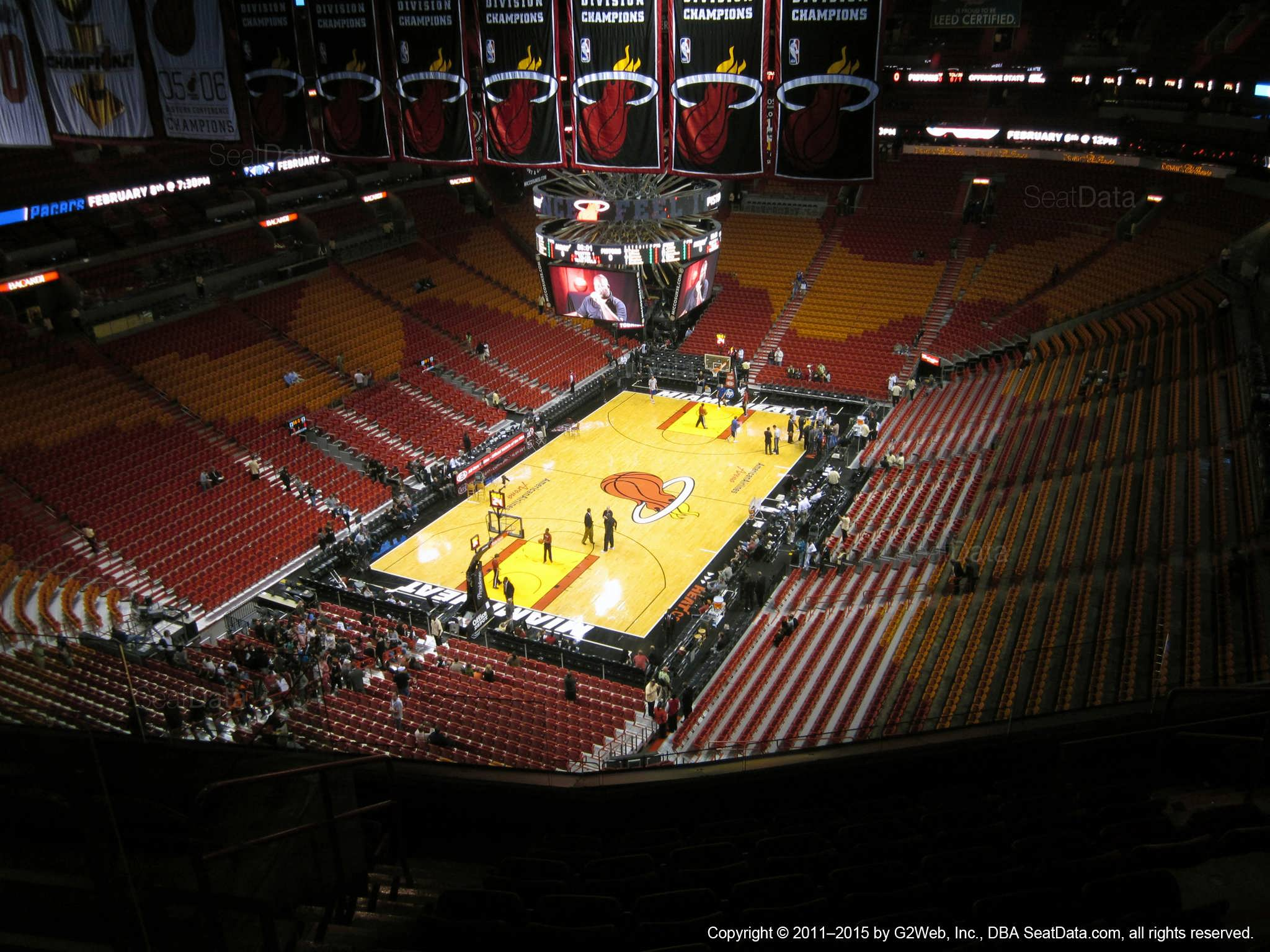 Americanairlines Arena Section 413 Miami Heat