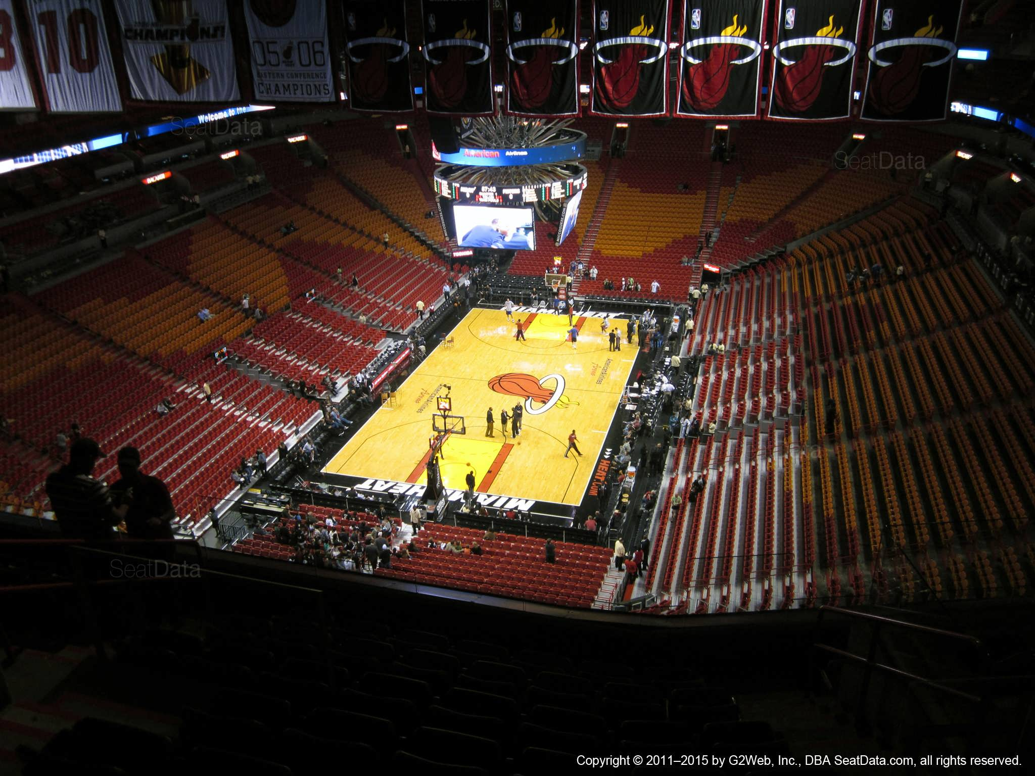 americanairlines arena section 414 - miami heat
