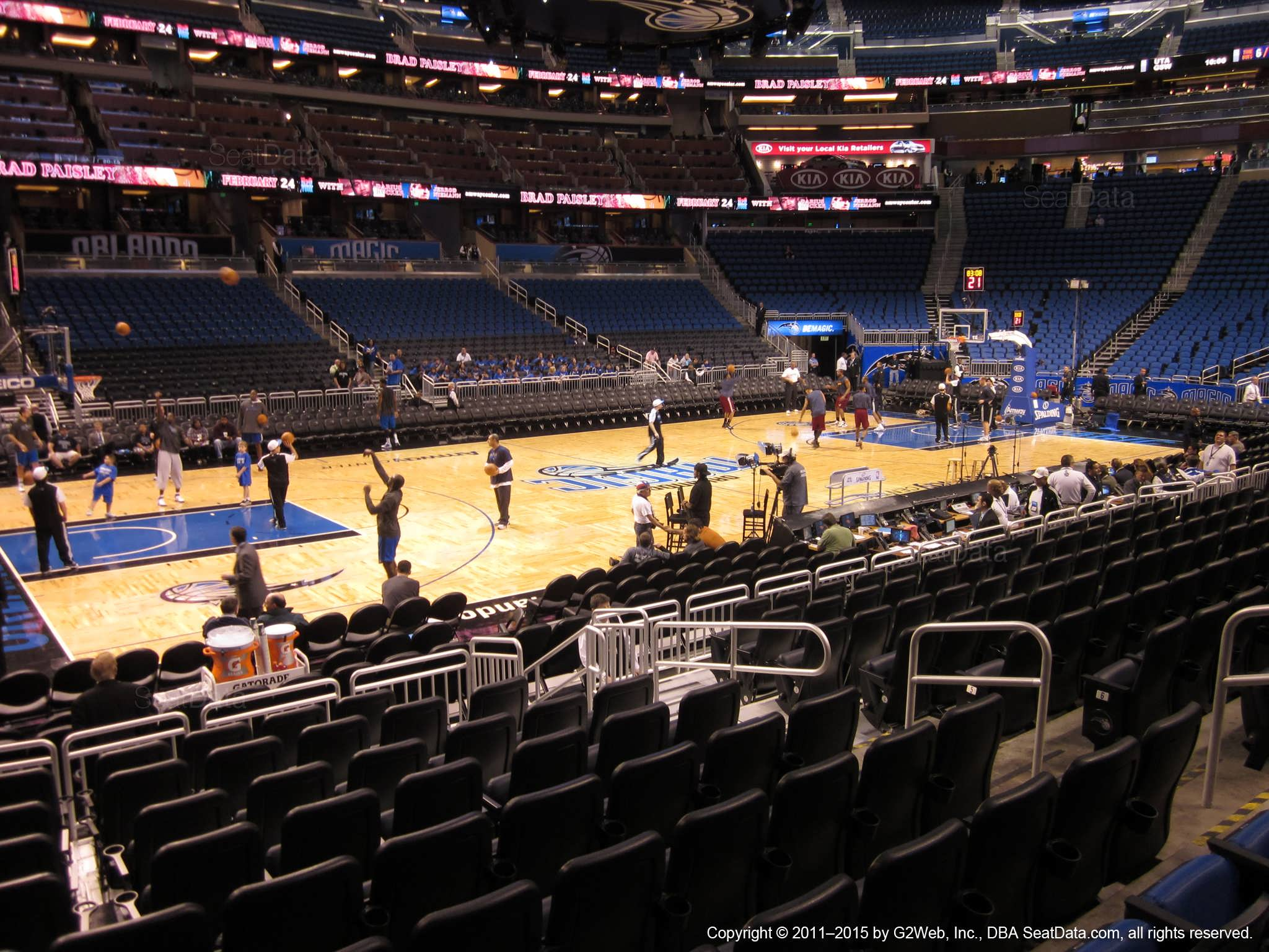 Amway Center Section 107 Orlando Magic Rateyourseats Com