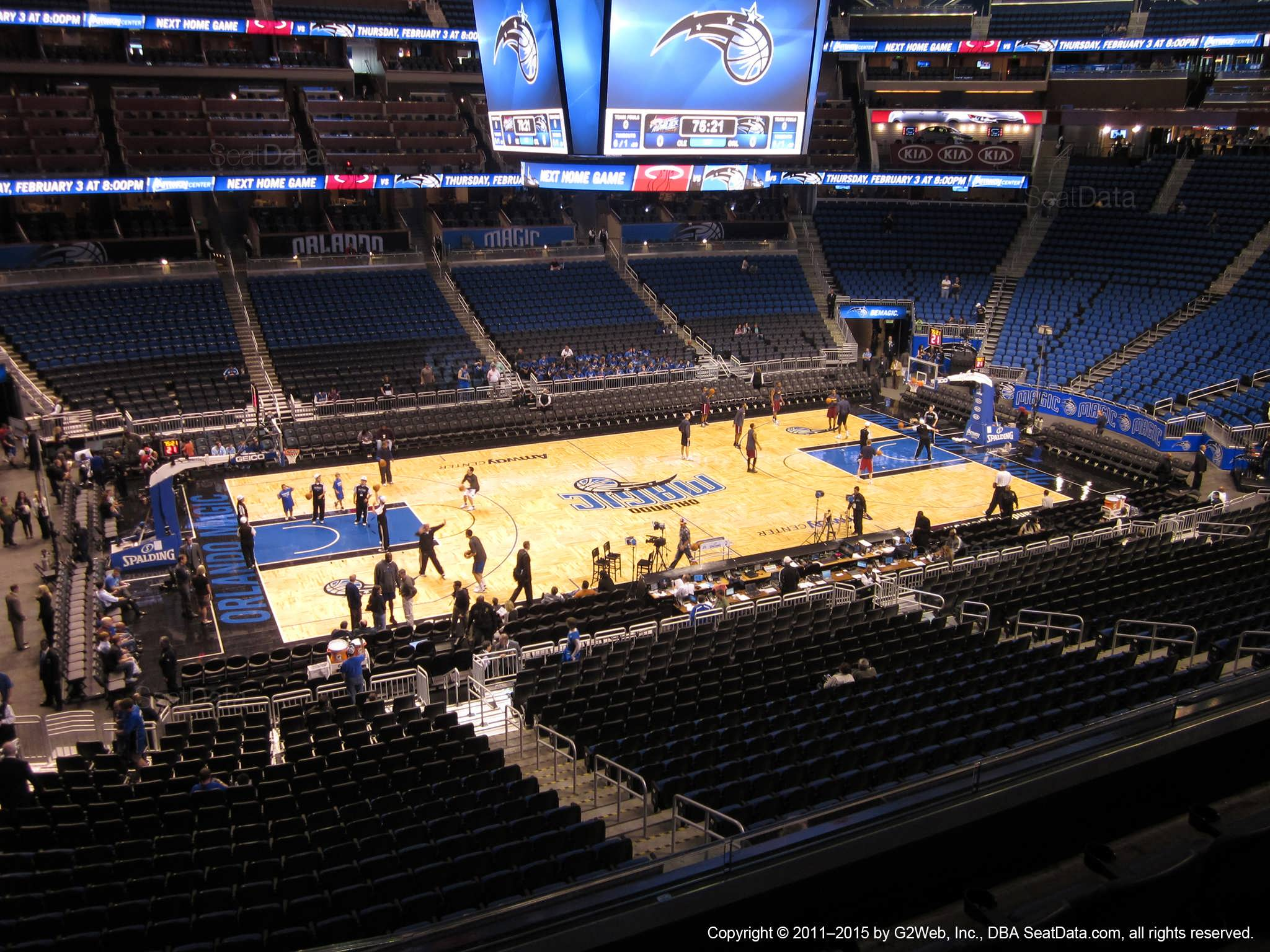 Seat View for Amway Center Section CE