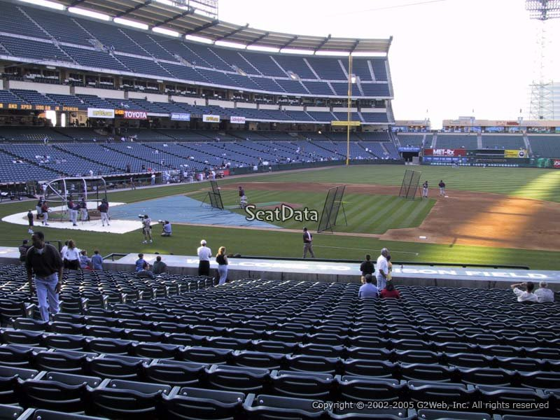 Angel Stadium Section 125 Rateyourseatscom