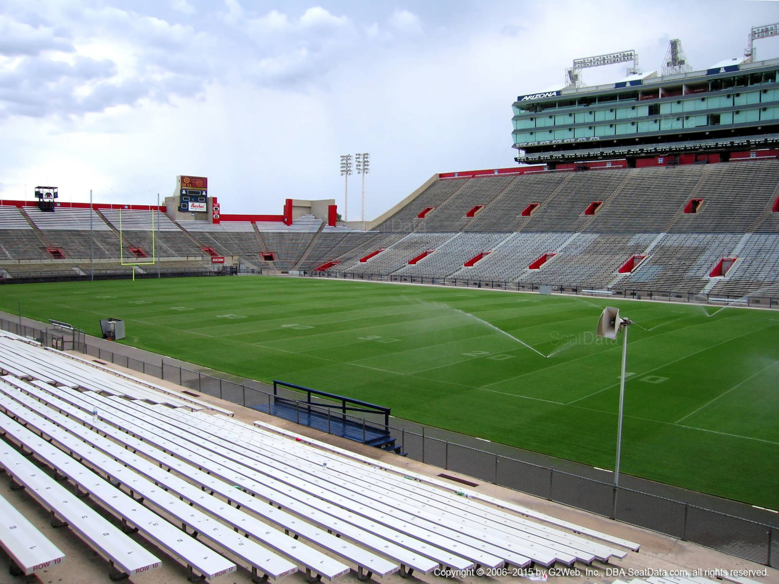 Seat View for Arizona Stadium Section 1