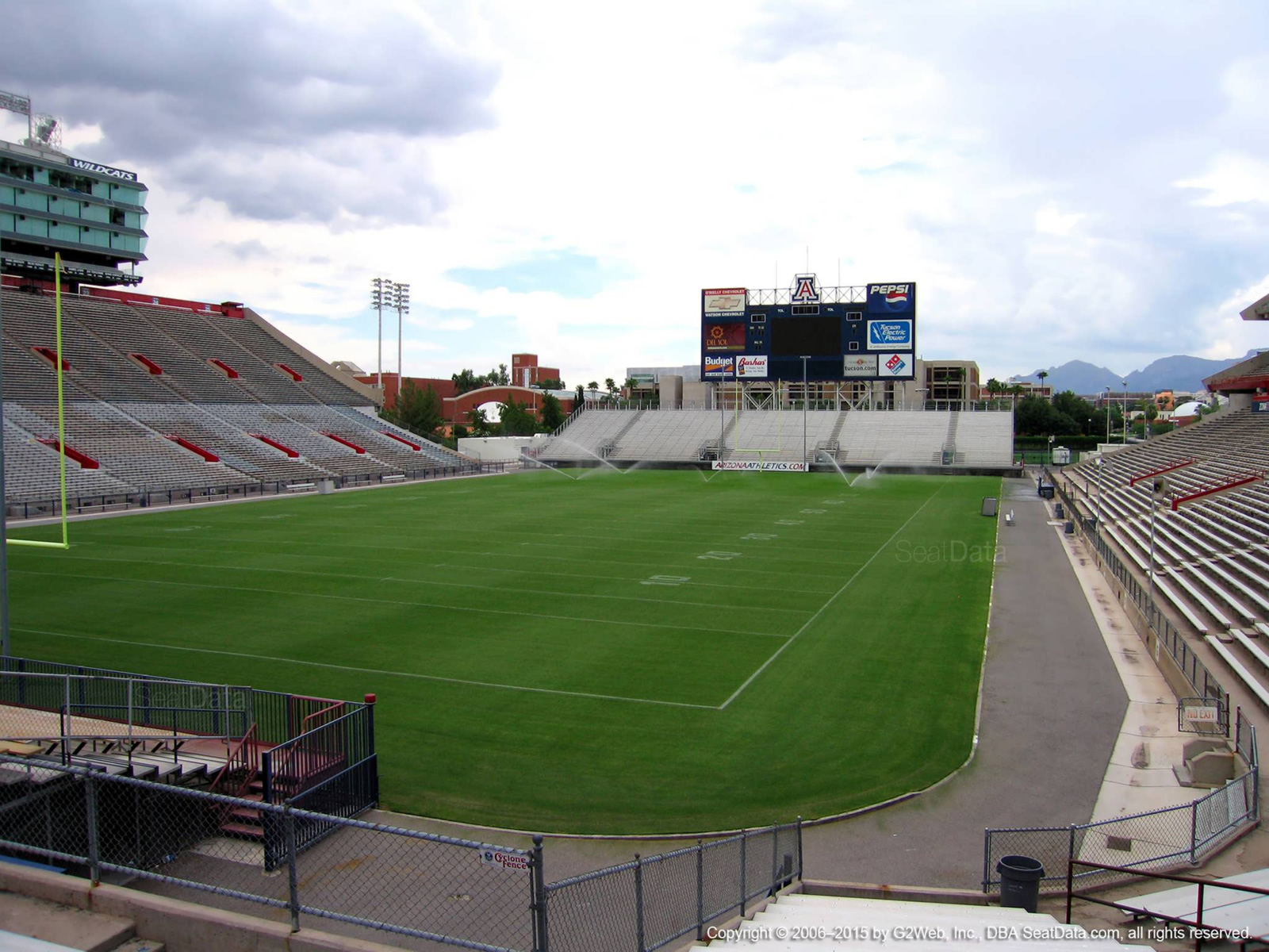 Seat View for Arizona Stadium Section 10