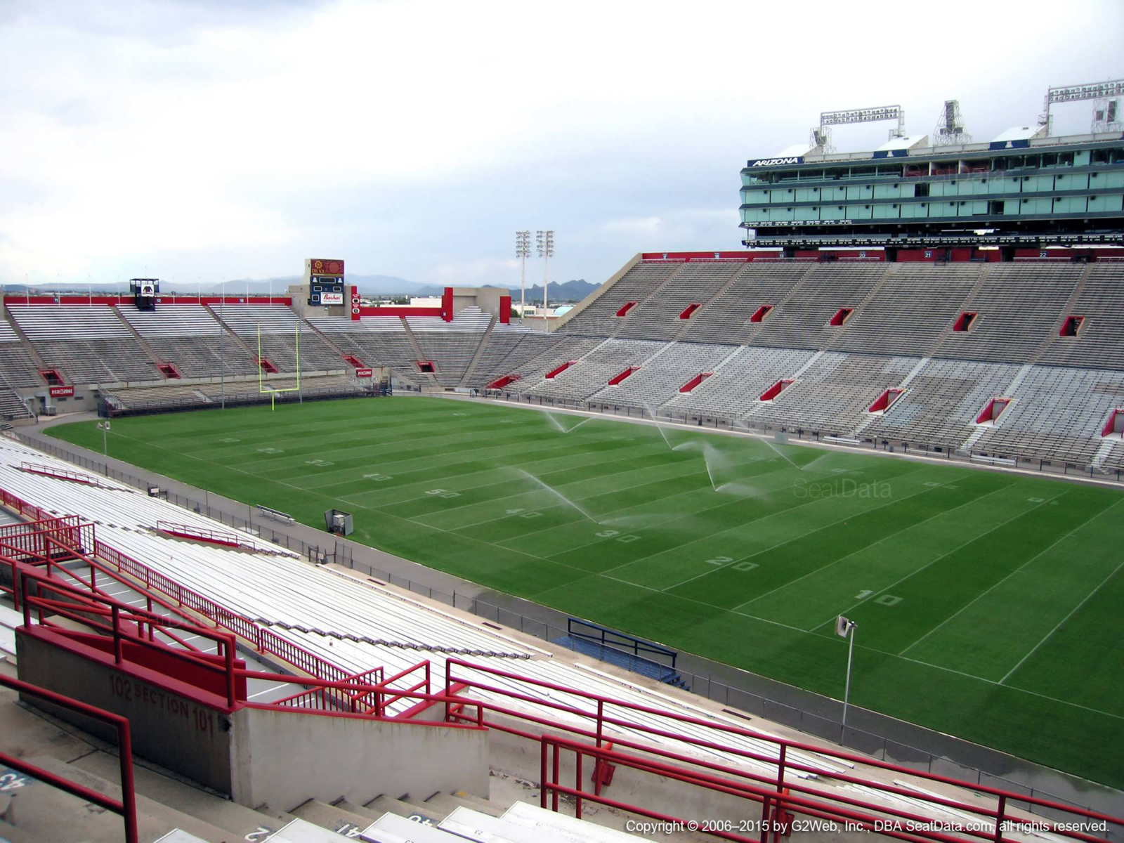 Seat View for Arizona Stadium Section 101