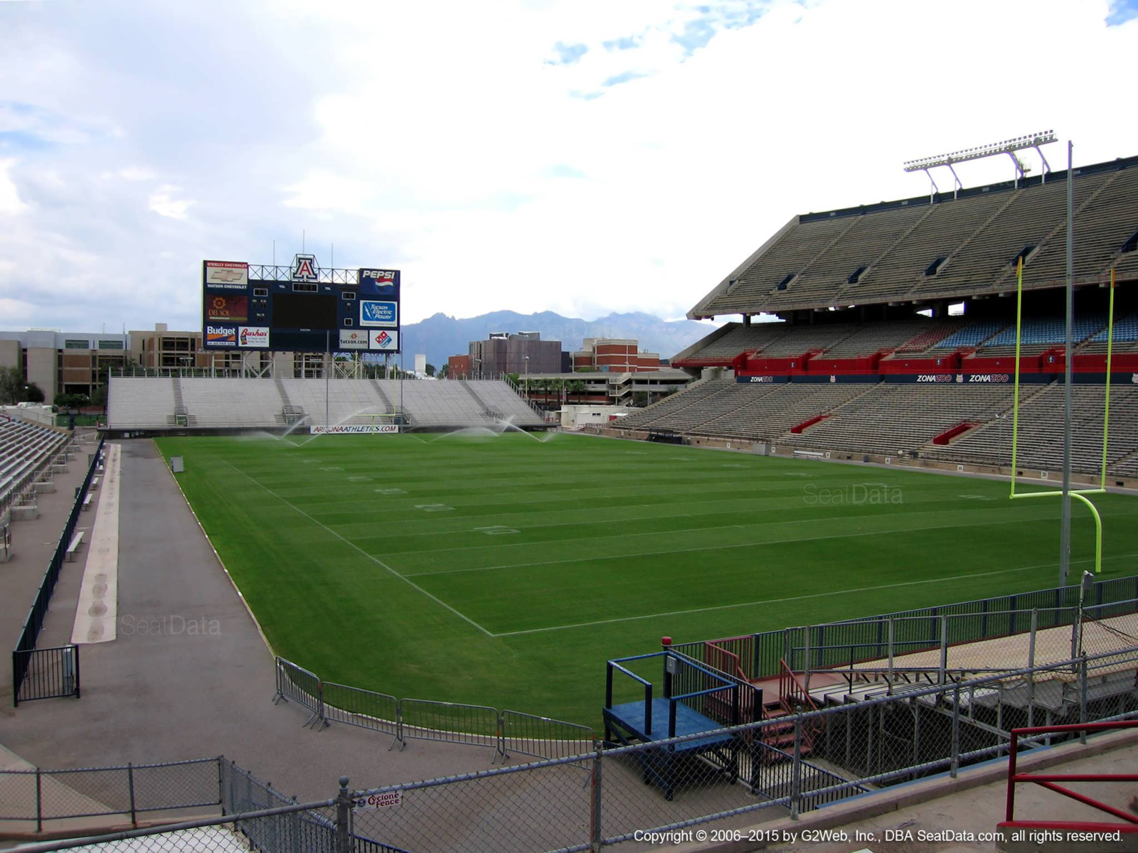 Seat View for Arizona Stadium Section 14