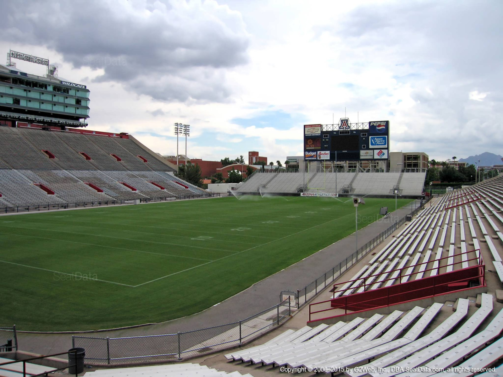 Seat View for Arizona Stadium Section 9