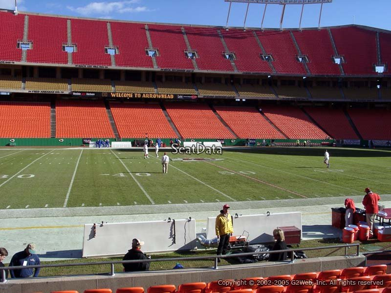 Seating view from Section 119 at Arrowhead Stadium