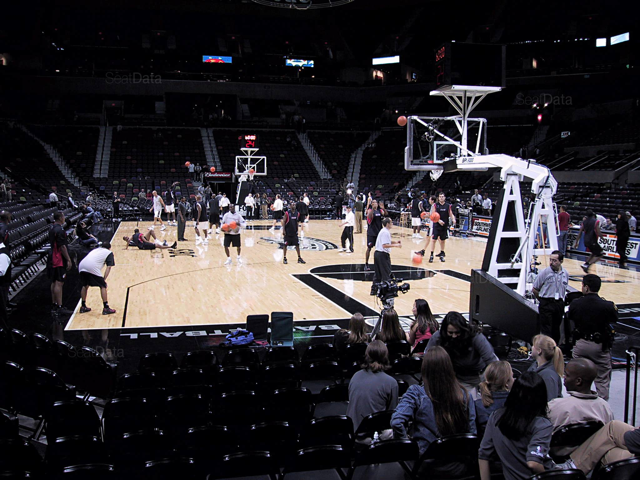 At Amp T Center Section 115 San Antonio Spurs