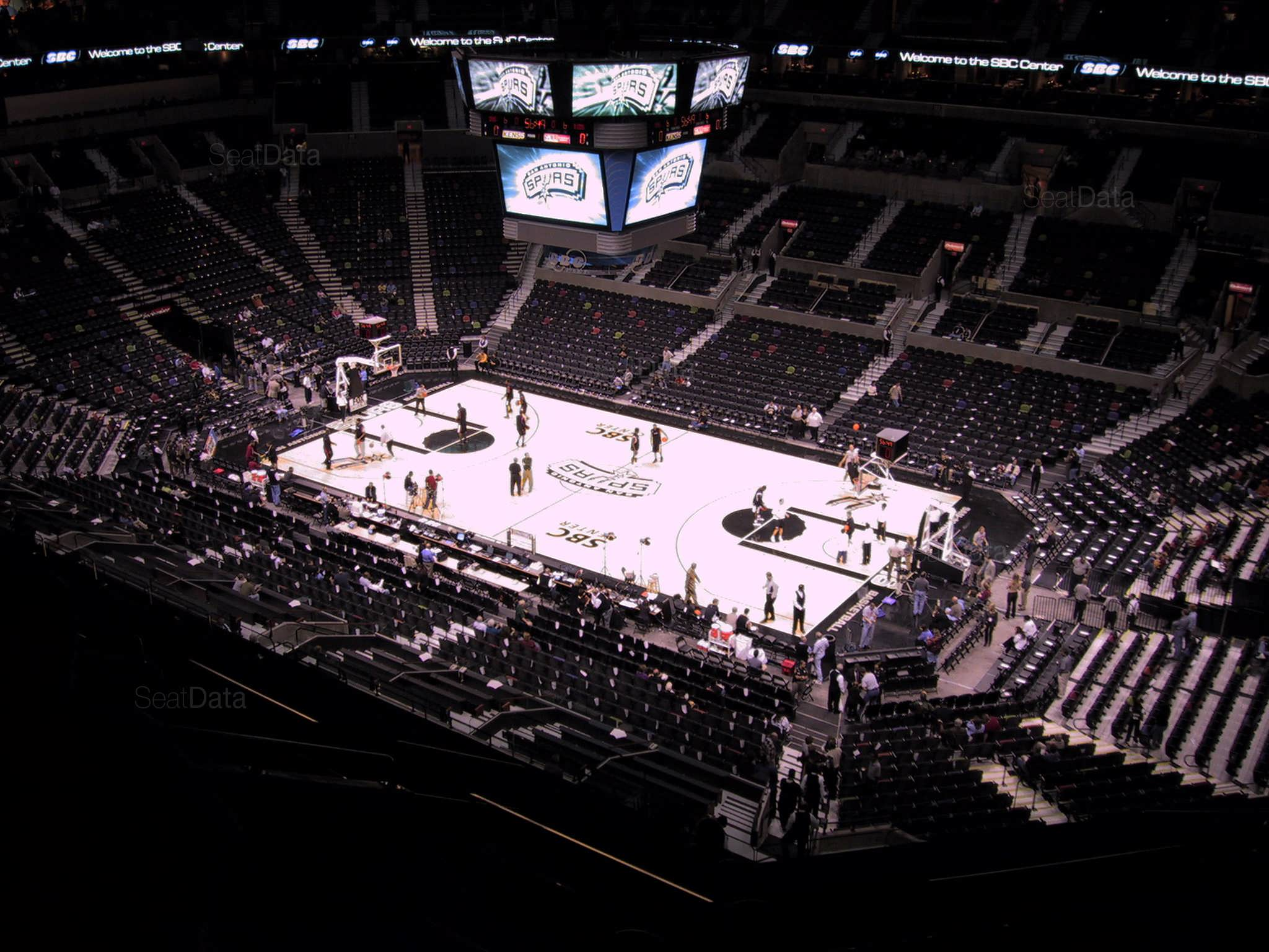 At Amp T Center Section 205 San Antonio Spurs