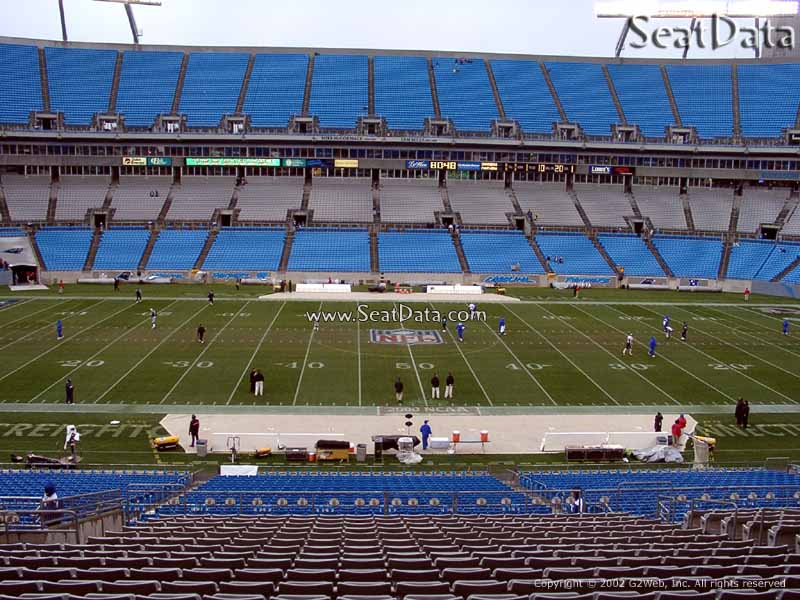 Seat view from Section 344 at Bank of America Stadium