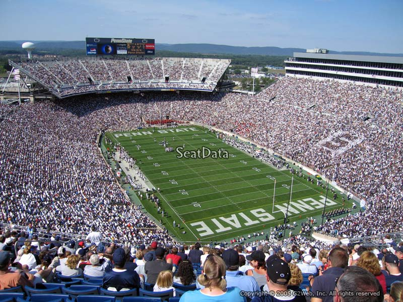 Seat View for Beaver Stadium Section SJU
