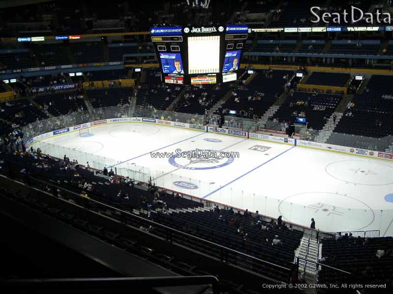 Nashville Predators Seat View for Bridgestone Arena Section 313