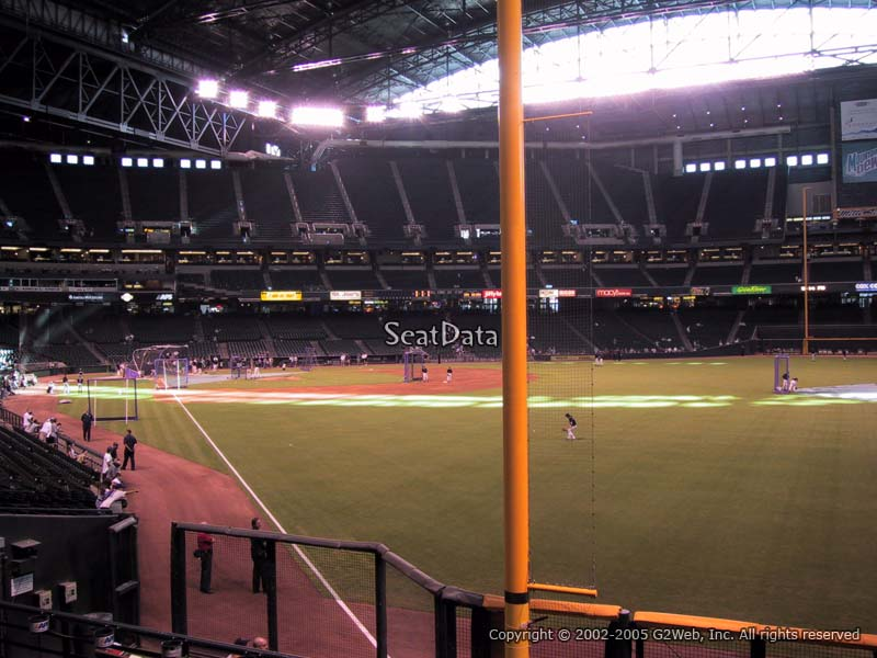 Chase Field Section 107 Arizona Diamondbacks