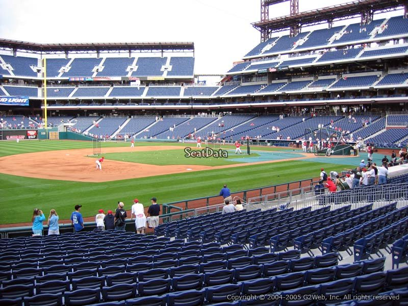 Citizens Bank Park Section 134 View