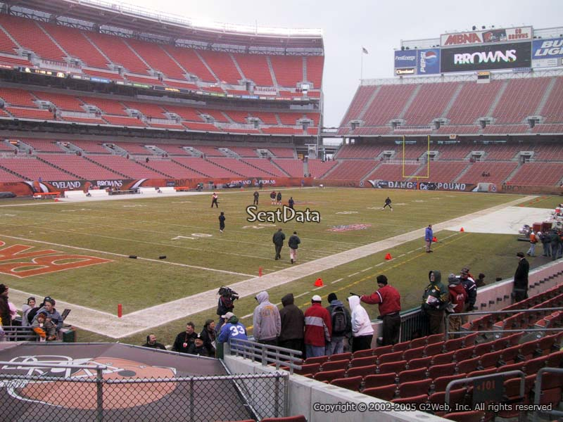 Seat View for First Energy Stadium Section 101