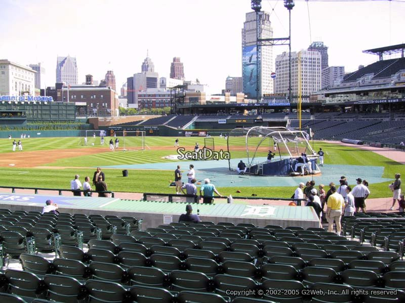 Comerica Park Section 131 Seat View