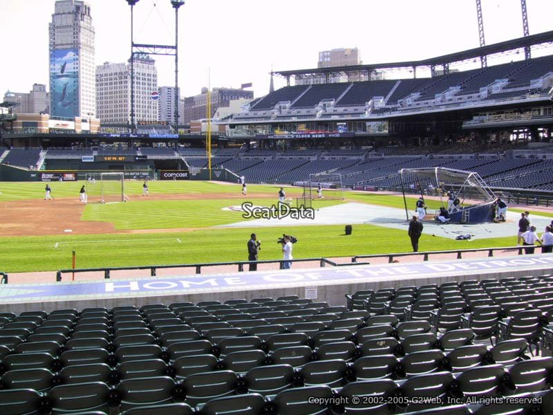 Comerica Park Tiger Den 134 Seat View