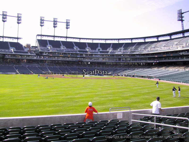 Comerica Park Section 150 Seat View
