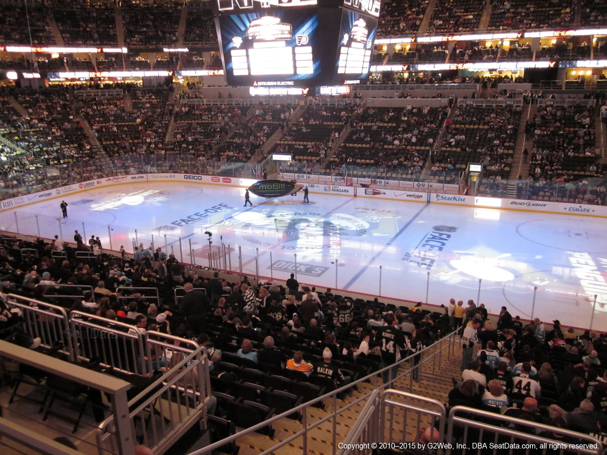 Pittsburgh Penguins Seat View For Ppg Paints Arena Club Loge 17