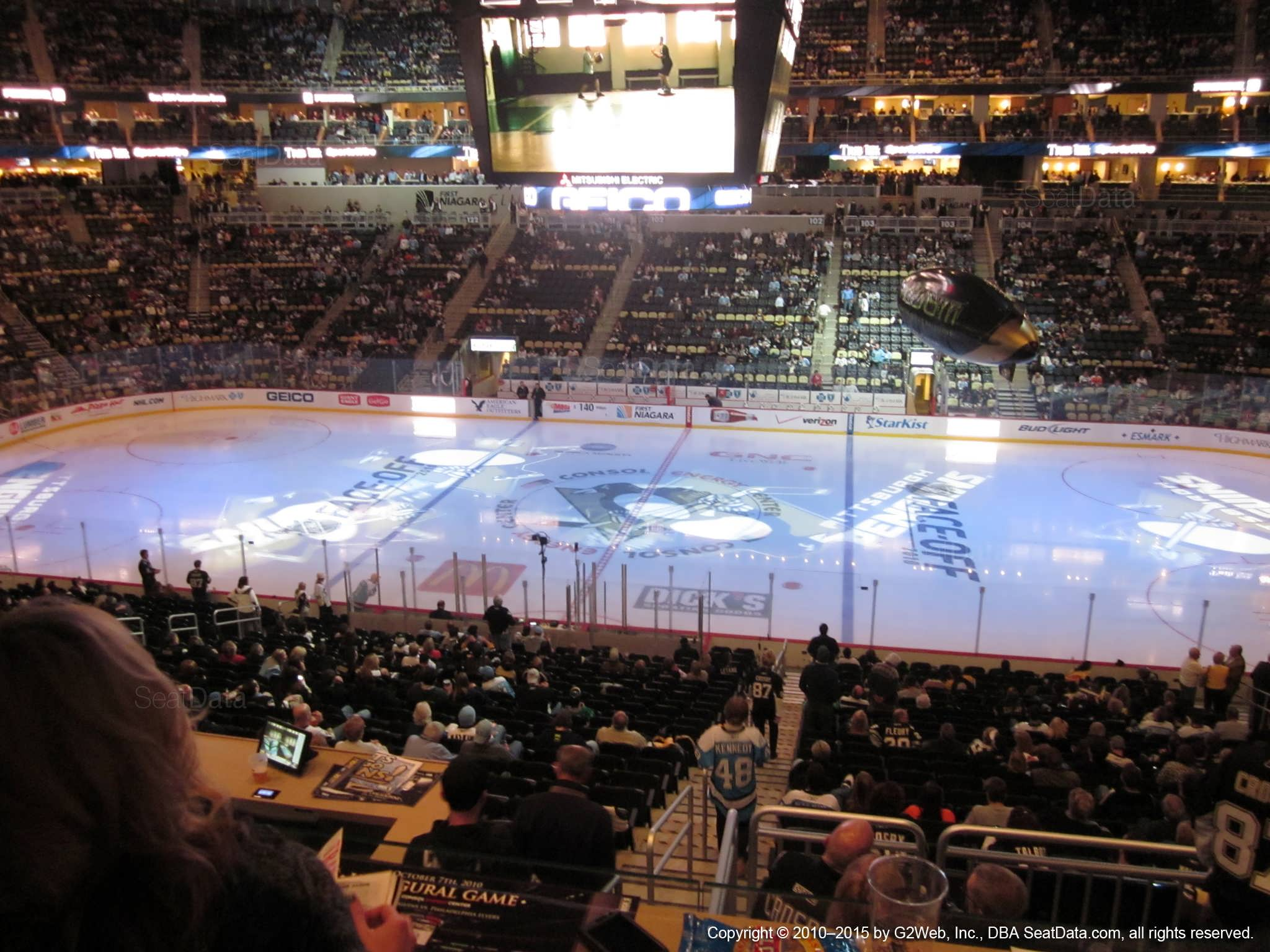 Ppg Paints Arena Club Loge 19 Pittsburgh Penguins