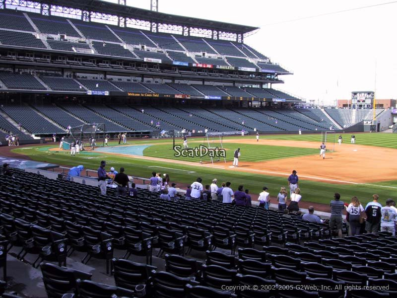 Coors Field Section 119 - RateYourSeats.com