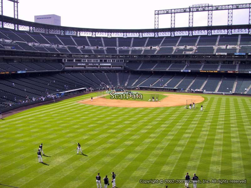 Mezzanine Level Outfield Coors Field Baseball Seating