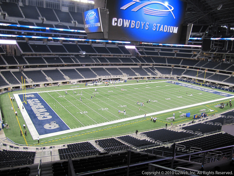 Dallas Cowboys Seat View for AT&T Stadium Section 341