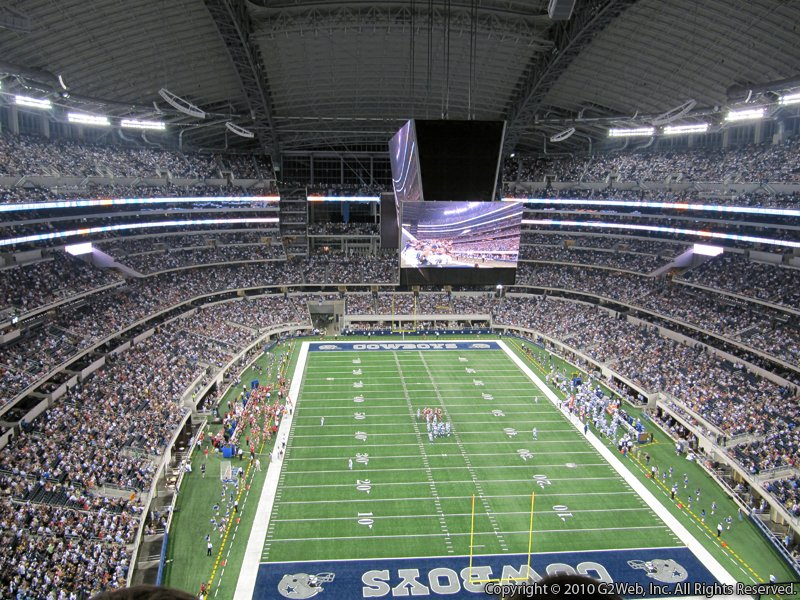 View from Section 429 at AT&T Stadium