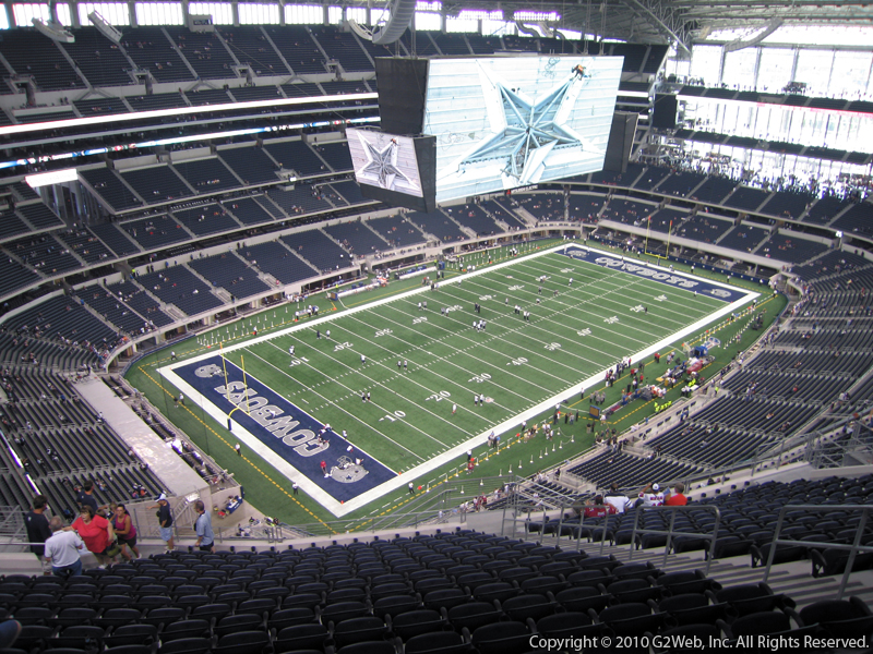 At Amp T Stadium Section 449 Dallas Cowboys Rateyourseats Com