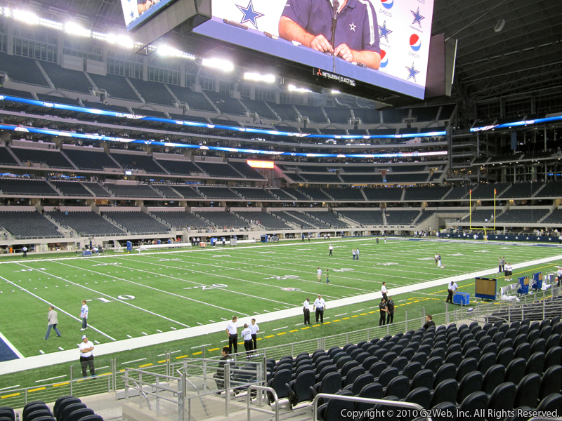 Dallas Cowboys - AT&T Stadium (Cowboys Stadium) Section C115 ...