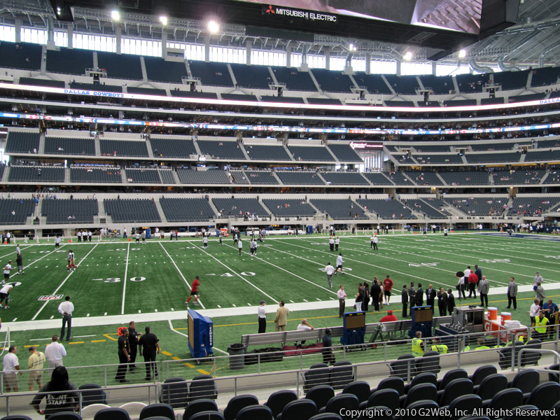 At t stadium section c137 dallas cowboys for Dining options at at t stadium