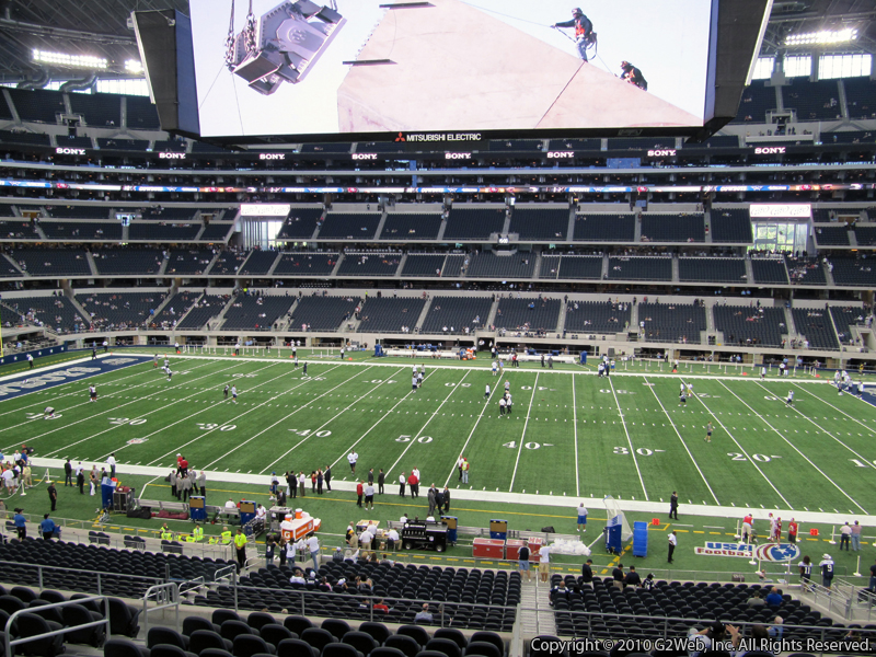 At t stadium section c235 dallas cowboys for Dining options at at t stadium