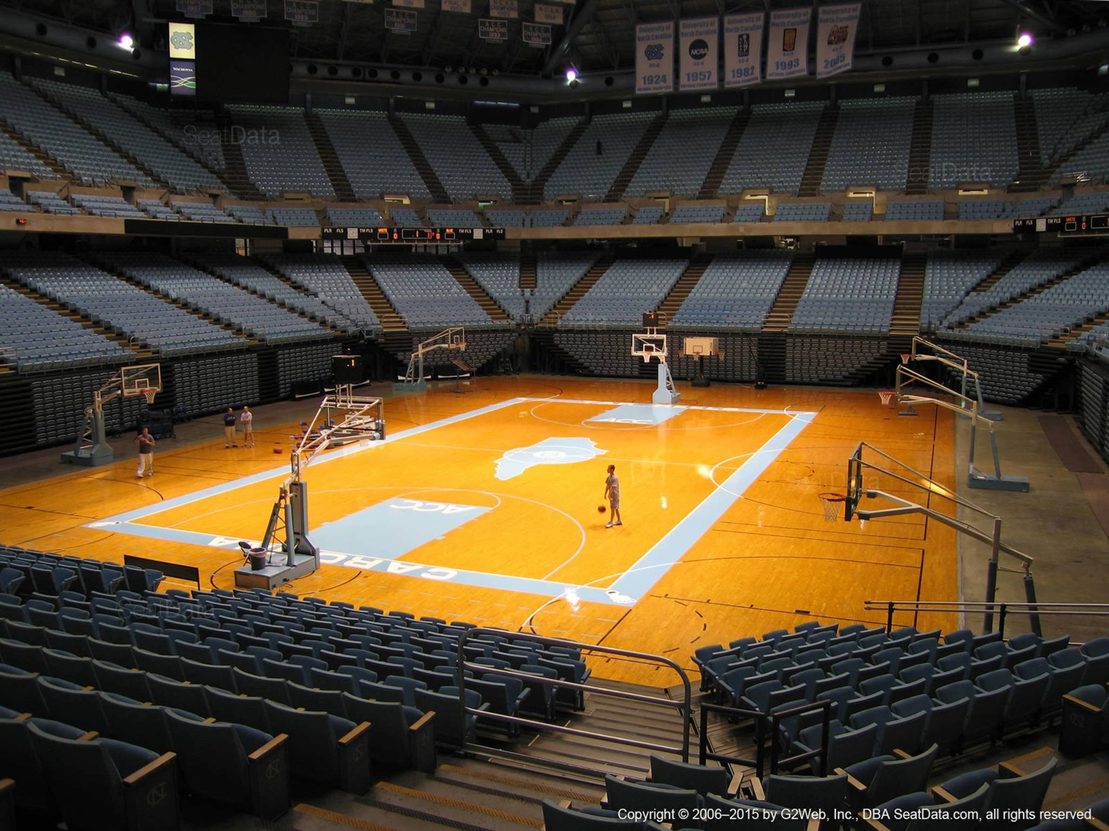 dean smith center section 119 rateyourseatscom