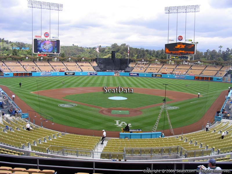 Dodger stadium section 101 seat view