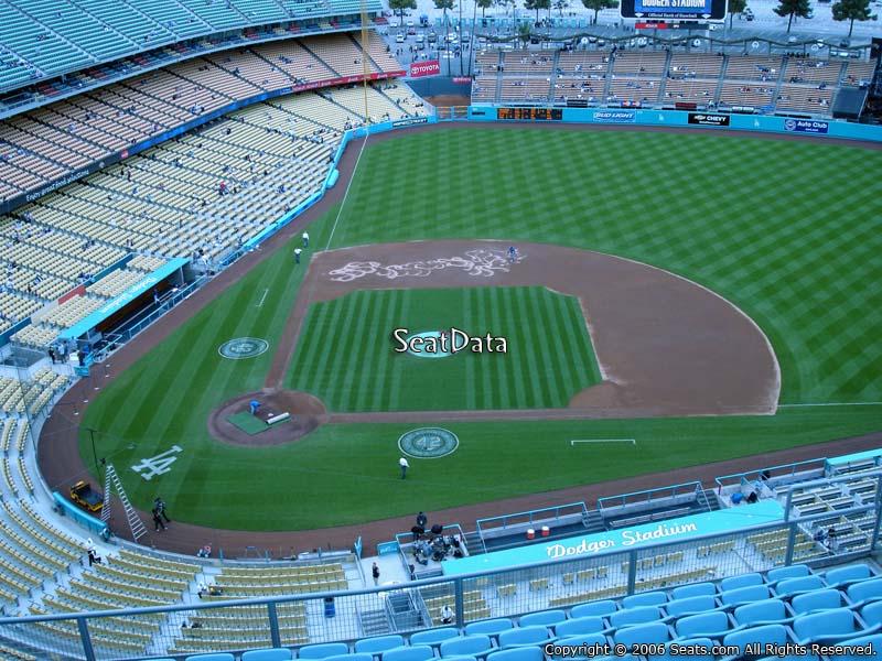Dodger stadium top deck 12 seat views seatscore rateyourseats