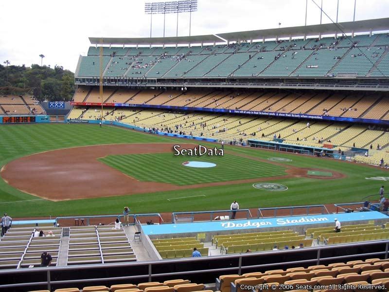 Dodger stadium section 139 rateyourseats com