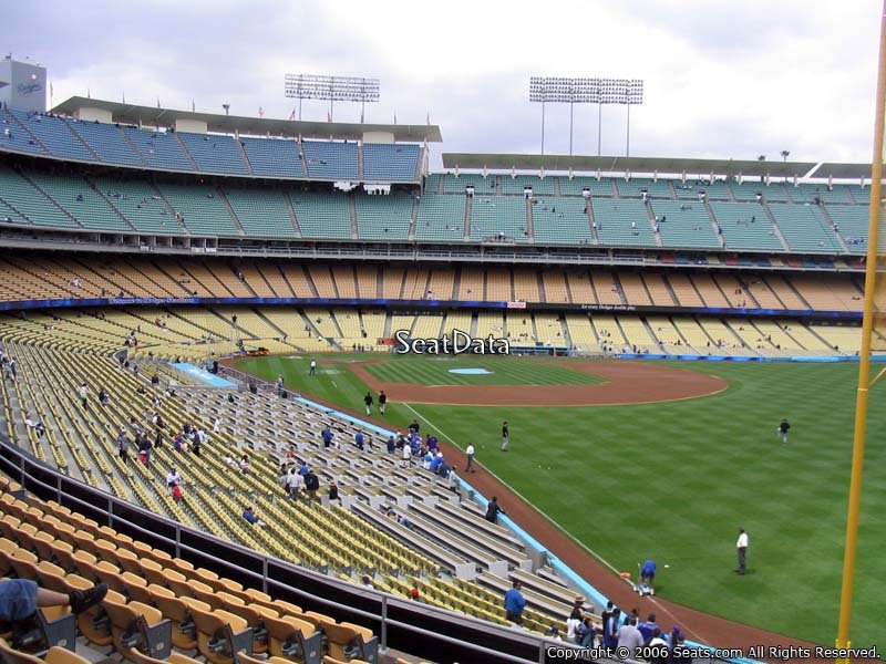 Dodger stadium section 164 seat view