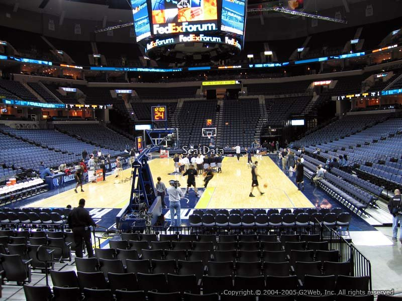 FedEx Forum Section 110 - Memphis Grizzlies ...