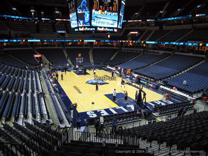 FedEx Forum Section 117 - Memphis Grizzlies - RateYourSeats.com