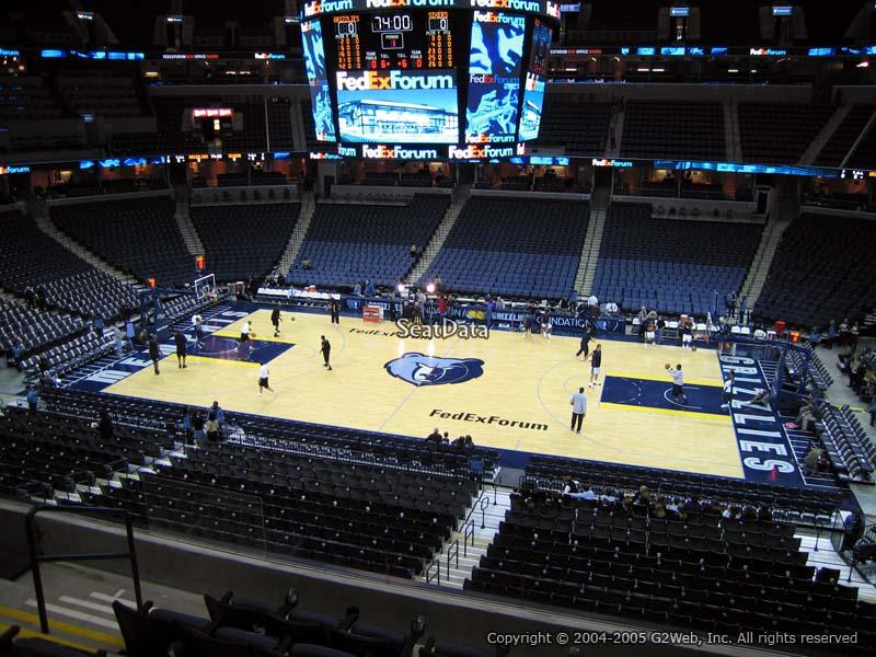 Fedex Forum Section P12 - Memphis Grizzlies