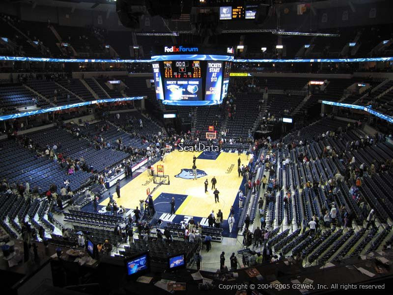 Seat View for FedEx Forum Section CB7