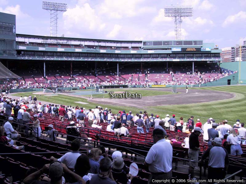 Seat View for Fenway Park Loge Box 98