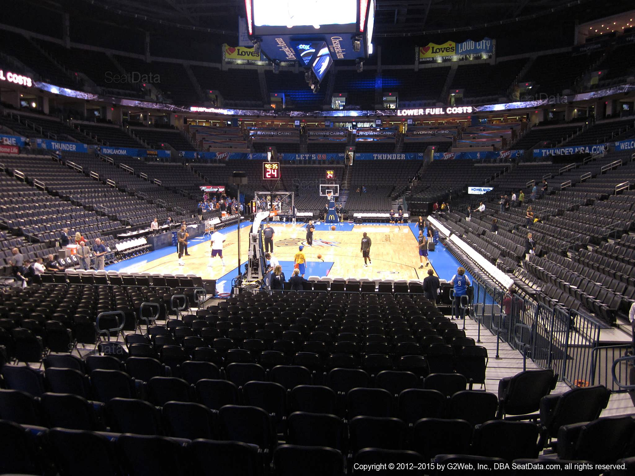 Chesapeake Energy Arena Section 110 Oklahoma City