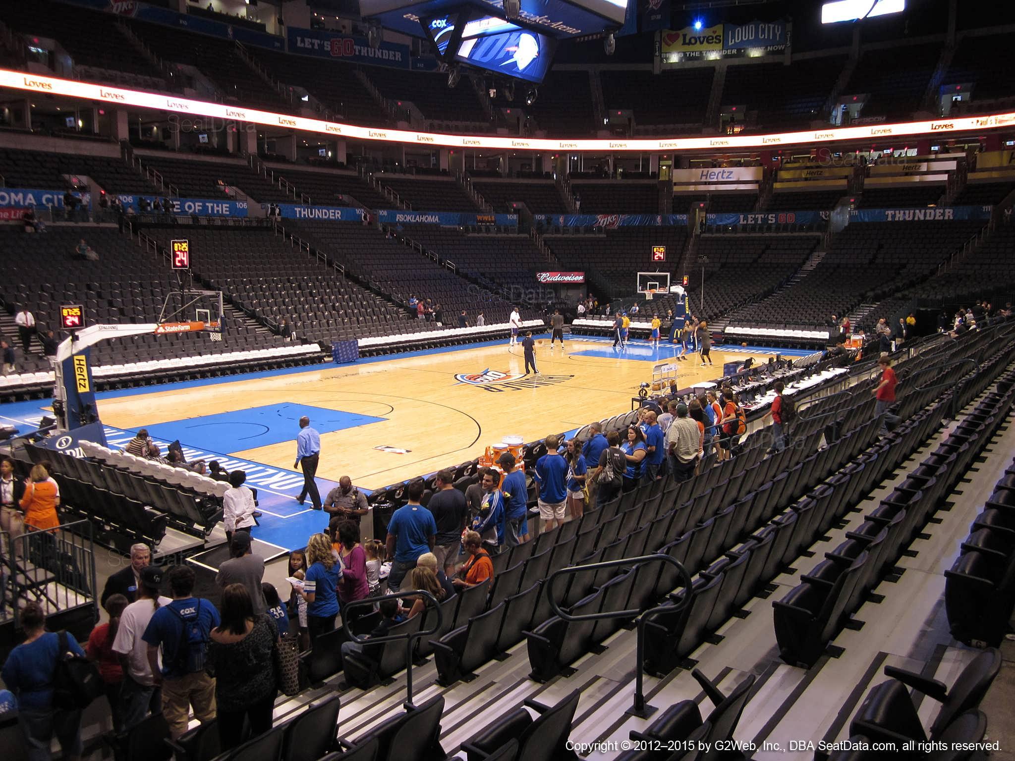 Chesapeake Energy Arena Section 118 Oklahoma City