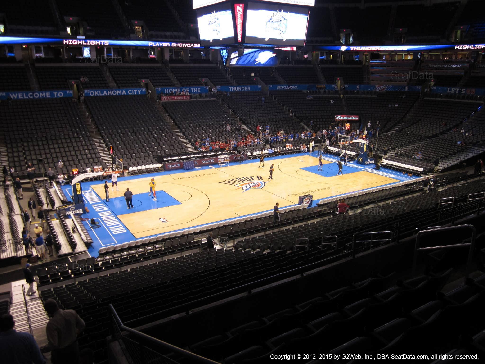 Chesapeake Energy Arena Section 210 Oklahoma City