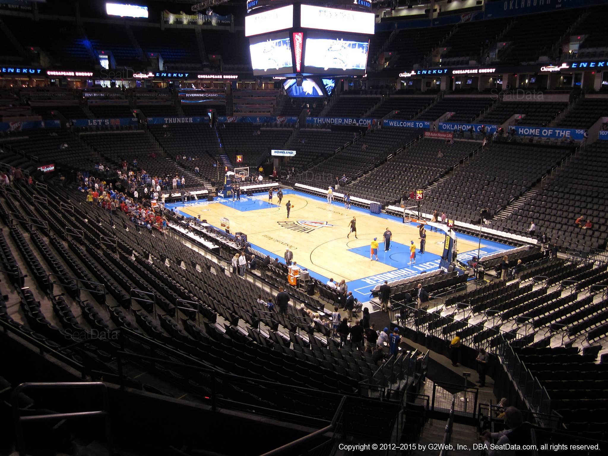 Chesapeake Energy Arena Seating Chart Concerts Elcho Table