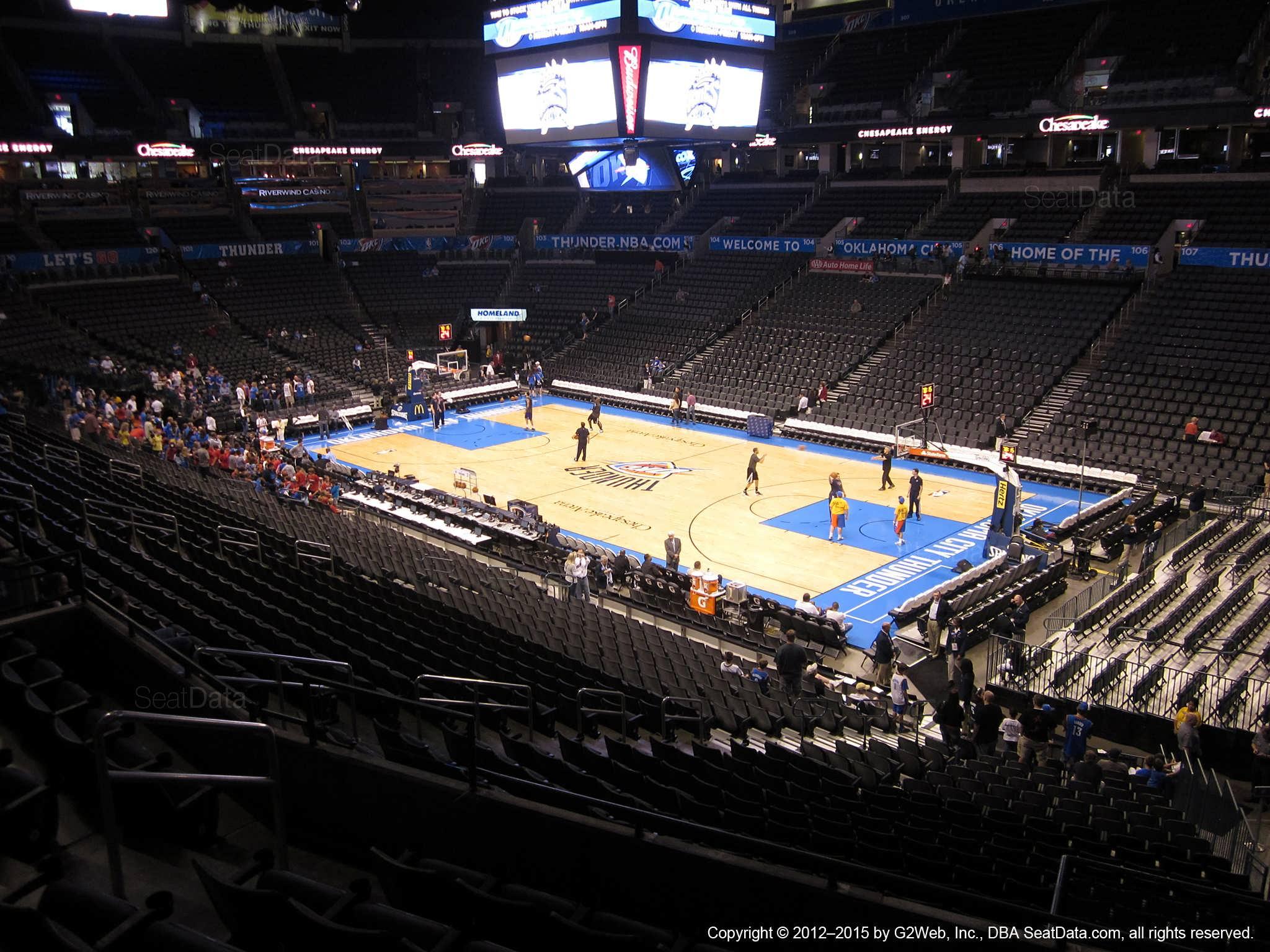 Chesapeake Energy Arena Section 220 Oklahoma City