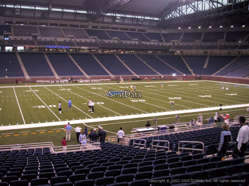 North Side Ford >> Lower Level Sideline - Ford Field Football Seating ...