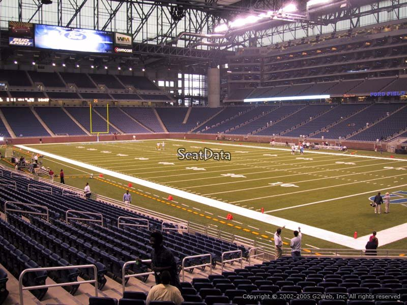 View from Section 133 at Ford Field