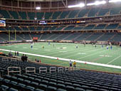 Football Seat View for Georgia Dome Section 132